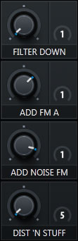 Macro Section of Serum with pre-assigned knobs that give you access to the most magic element of each preset. Taken from sound pack Bass & Freaks. Example 6