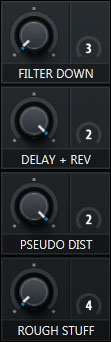 Macro Section of Serum with pre-assigned knobs that give you access to the most magic element of each preset