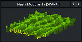 A WaveTable called 'Nasty Modular' that comes with the Serum Future Bass Preset Pack called Bass & Freaks