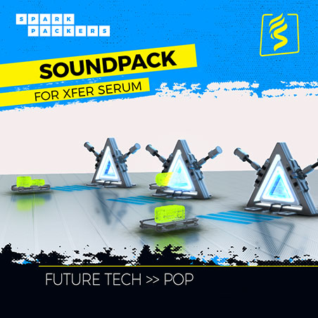 Cover image of the virtual Serum Preset Pack box called Future Pop