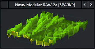 WaveTable called 'Nasty Modular RAW 2a' from Serum Pack Bass & Freaks. Genre: Future Bass