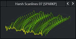 Serum WaveTable called 'Harsh Scanlines 7' that comes with the pack 'Future Tech Pop'