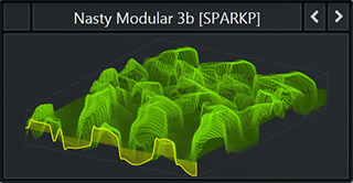 WaveTable called 'Nasty Modular 3b' that comes with SparkPackers Serum Preset Pack Bass & Freaks. Genre: Future Bass