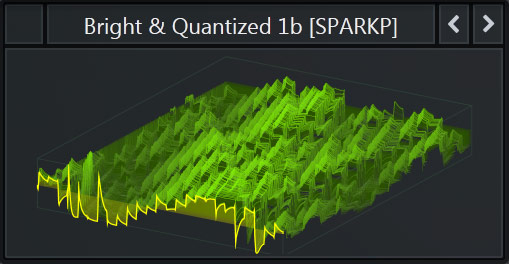 Serum WaveTable called 'Bright Quantized' that comes with SparkPackers Free Serum Preset Pack
