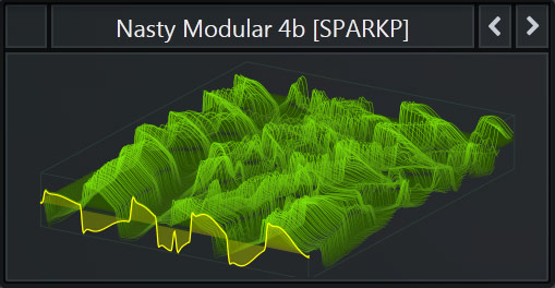Serum WaveTable called 'Nasty Modular 4b' that comes with SparkPackers Free Serum Preset Pack