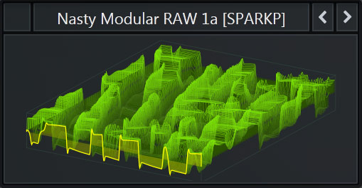 Serum WaveTable called 'Nasty Modular RAW 1a' that is part of our Free Serum Preset Pack