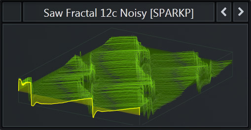 Free Serum WaveTable called 'Saw Fractal 12c Noisy' that is part of our Free Serum Preset Pack