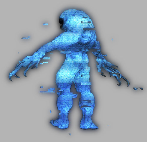 Cuddly mutant in low-res wiggling to electro music made with serum future bass presets