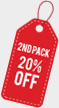 Badge for Bundle Deal on landing page showing 20 percent off for two Serum Packs