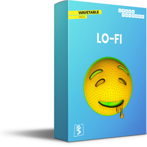 Virtual Box of the Wavetable Pack Lo-Fi with a drooling emoji