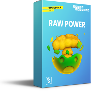 Virtual Box with emoji featuring SparkPackers Wavetable Pack called Raw Power