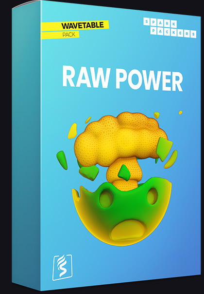 Serum Wavetables - Virtual box of the pack called Raw Power