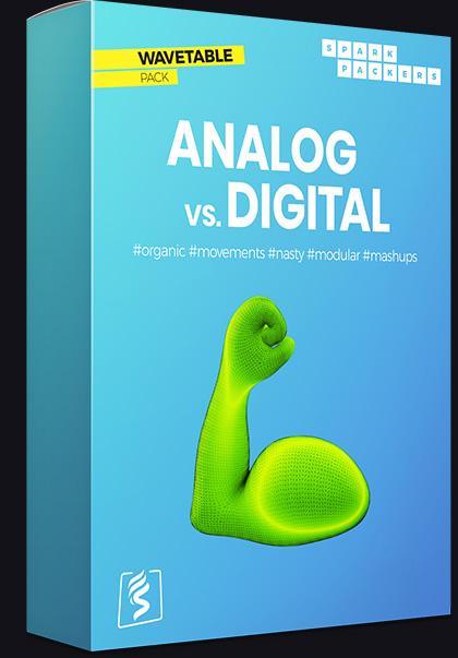 Serum Wavetables - Virtual box of the pack called Analog vs Digital