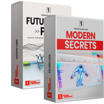 virtual boxes for the serum bundle with modern secrets and future tech pop presets