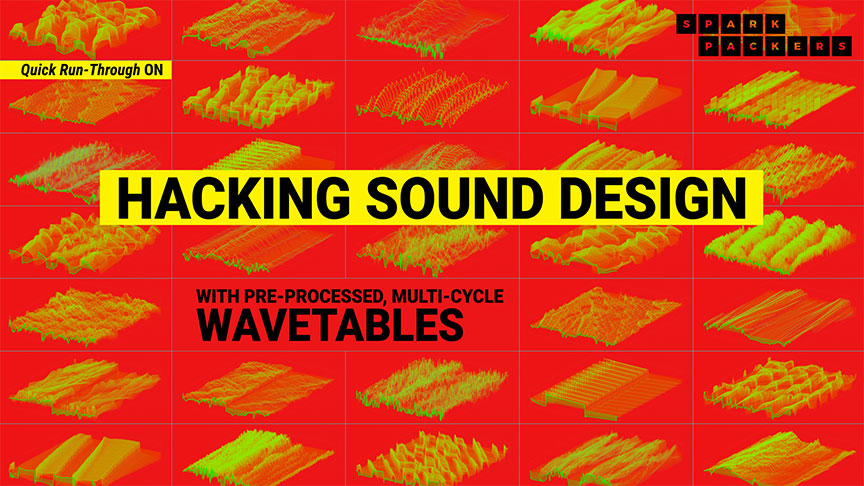 Screenshot the youtube tutorial that looks at how to hack sound design with wavetables and serum on sound design