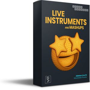 SparkPackers' Virtual product box for the Ableton Wavetable Presets called Live Instruments coming with custom built wavetables and presets for ableton live 10