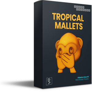 This is the virtual product box for Tropical Mallets, a Ableton Wavetable Presets pack coming with custom built wavetables and presets for ableton live 10