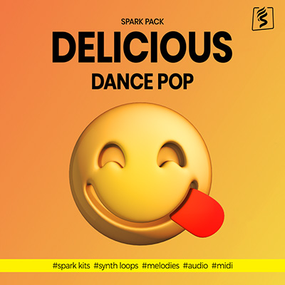Product cover image for sparkapckers delicious dance pop pack, a spark pack coming with audio loops and corresponding midi files