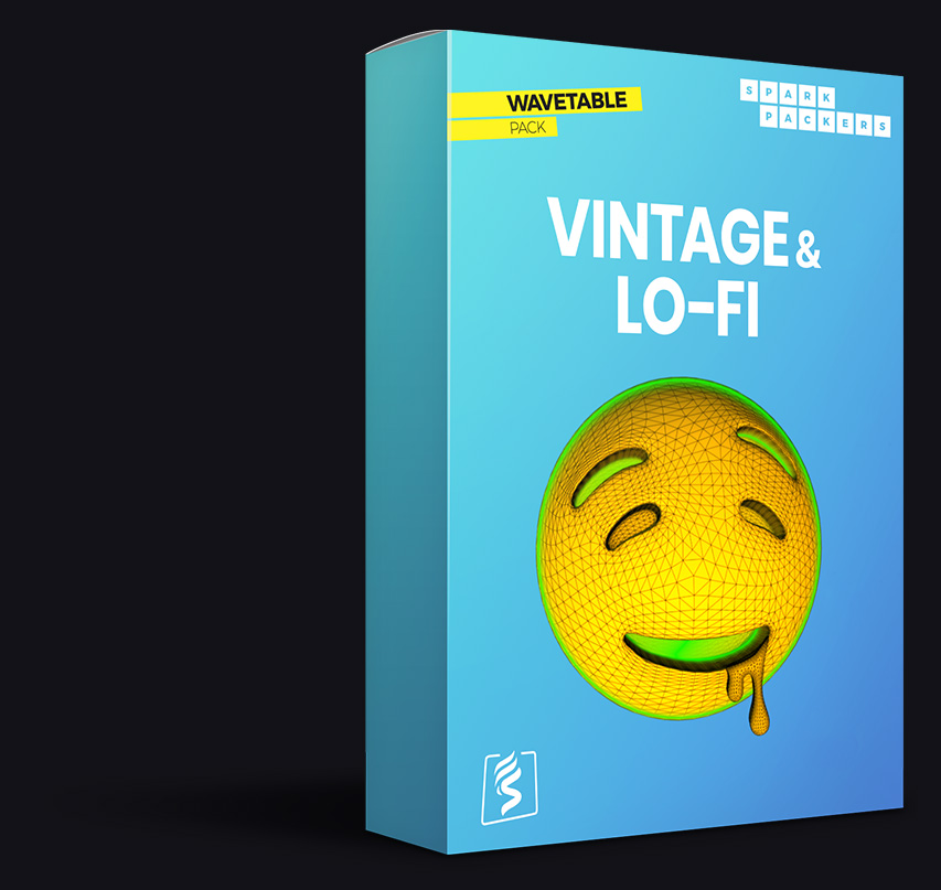 Software box of a unique lo-fi library full of textured serum wavetables best choice for hip hop and beats producer