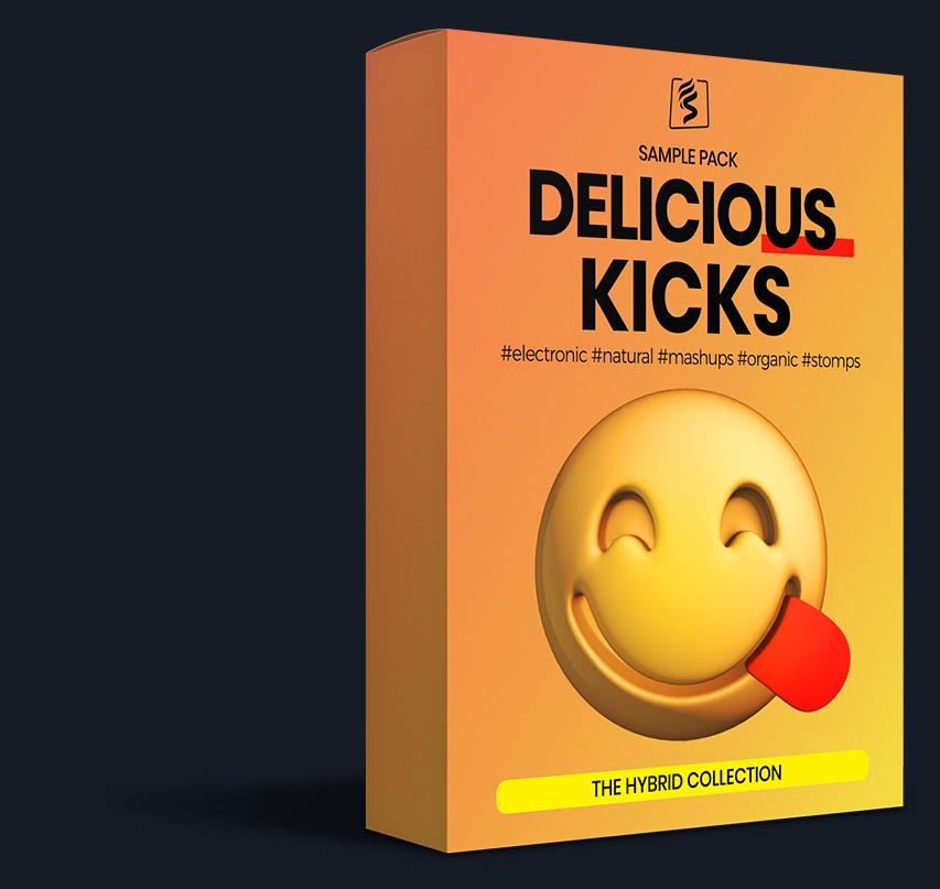 virtual box design for the delicious kicks sample pack