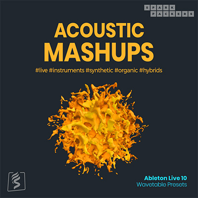 Virtual product cover image for the ableton wavetable presets pack called Acoustic Mashups for ableton live 10's wavetable synth