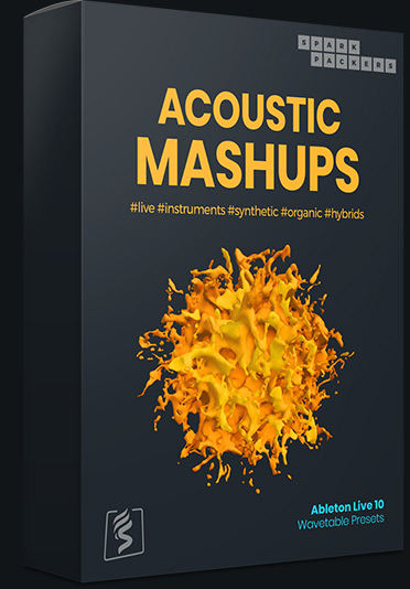 image of acoustic mashups, one of the main, premium sound packs that the free ableton wavetable presets are taken from