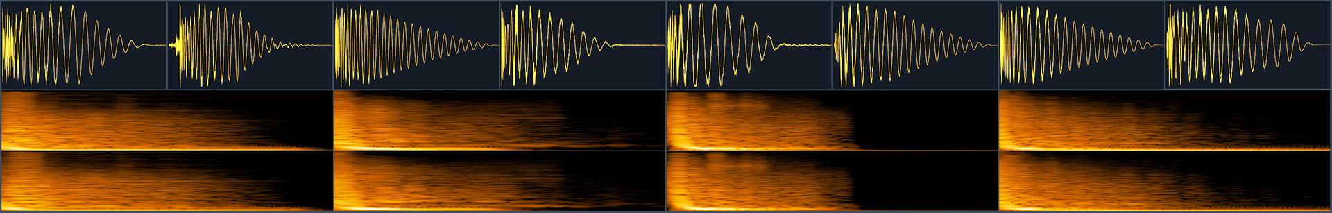 waveform collage of free kick drums samples