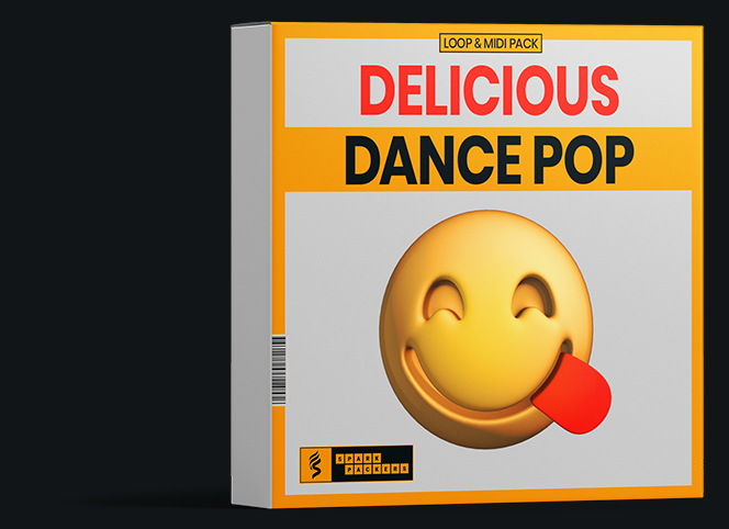 virtual box for our loop and midi pack called delicious dance pop