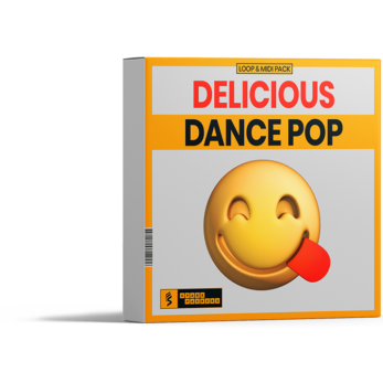 virtual box for sparkpackers loop and midi pack called delicious dance pop full of audio loops and matching midi files